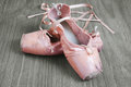 Old Pink Ballet Shoes Stock Photos - 33103023