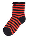 Sock In Black And Orange Stripes Stock Photography - 33113592