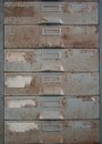 Old Metal File Cabinet Is Rust. Royalty Free Stock Image - 33118756