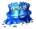 Two Monsters Royalty Free Stock Image - 33141376