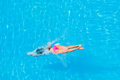Girl Diving In The Swimming Pool Royalty Free Stock Photos - 33144008