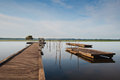 Wooden Pier On Soustons Lake, France Stock Photo - 33148950