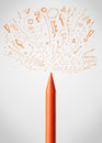 Crayon Close-up With Sketchy Arrows Stock Images - 33153954