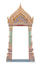 Frame Of Thai Ancient Gate Art Royalty Free Stock Images - 33159469