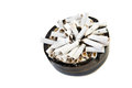 Ashtray With Cigarettes Royalty Free Stock Image - 33165696