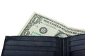One Dollar In A Wallet Stock Photo - 33166090