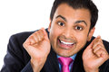 Crazy, Wacky, Insecure Businessman Wearing Suit Stock Photo - 33170330