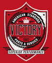 Vintage Americana Style Victory Label Royalty Free Stock Image - 33176666