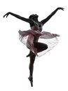 Woman  Ballerina Ballet Dancer Dancing Silhouette Royalty Free Stock Photos - 33184818