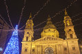 The Basilica Square At Christmastime Stock Photo - 33185860