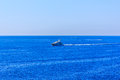 The Ship In The Sea Off The Cote D Azur In France Stock Image - 33187011