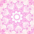 Pink Ornate Vector Lacy Seamless Pattern Stock Photo - 33187330