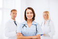 Young Female Doctor With Stethoscope Stock Photography - 33187512