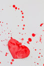 Paper Heart And Red Splashes Stock Images - 33190734