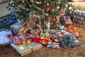 Christmas Presents Around Tree Stock Image - 33197201