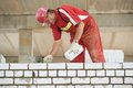 Construction Mason Worker Bricklayer Royalty Free Stock Photography - 33200867