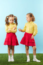 Frowning Sister Royalty Free Stock Photography - 33210827