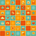 Square Pattern Of Social Networking In Retro Colors Stock Images - 33215704