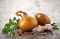 Onions And Garlic Stock Photos - 33221113
