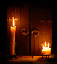 Candles With Closed Doors Royalty Free Stock Photos - 33229288