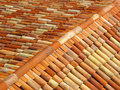 Roof Tiles With Ridge Tiles On Top Royalty Free Stock Photography - 33244377