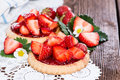 Small Strawberry Tart With Fruits Royalty Free Stock Photos - 33245778