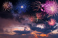 Holiday Fireworks On The Majestic Sky Royalty Free Stock Photography - 33252977