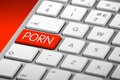 A Keyboard With A Porn Key Royalty Free Stock Images - 33269539