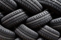 Tire Stack Background Stock Image - 33273831