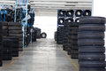 Tire Stack Background Interior Royalty Free Stock Image - 33273866