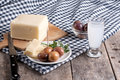 Delicious Cheese And Olives On Table Stock Photos - 33281733