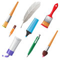 Writing And Painting Tools Royalty Free Stock Photo - 33281825