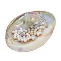 Pearls In Mother Of Pearl Stock Images - 33298274