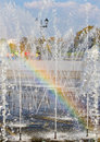 Rainbow In A Fountain Stock Images - 3332024