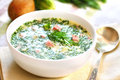 Okroshka - Russian Cold Soup Royalty Free Stock Photography - 33300837