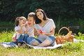 Family Picnic With Apples Royalty Free Stock Photo - 33303015