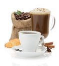 Cup Of Coffee On White Royalty Free Stock Photo - 33306925