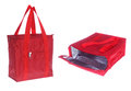 Two Views Of Red Cooling Bag Stock Photos - 33312343