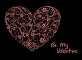 Pink Floral Heart Royalty Free Stock Image - 33337046