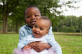 Smiling African Boy And His Sister Royalty Free Stock Photography - 33361657