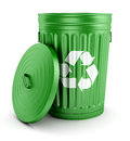 Green Recycle Trash Can With Lid 3d Royalty Free Stock Image - 33363996