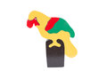 Parrot Wooden Puzzle Over White Background Stock Images - 33364864