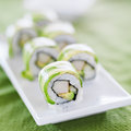 Sushi - Dragon Roll With Avocado And Crab Meat Stock Image - 33366611
