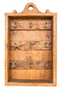 Old Brown Vintage Wooden Rusty Key Holder Box Stock Photos - 33392993