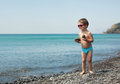 Little Boy At Sea Beach Stock Photography - 33395472