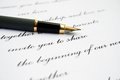 Love Letter And Fountain Pen Stock Images - 33415724