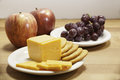 Cheese, Crackers, And Fruit Stock Image - 33416381