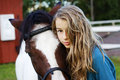 Teenager And Icelandic  Horse Royalty Free Stock Photo - 33439145