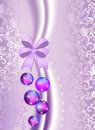 Christmas Balls On The Purple Vintage Background Royalty Free Stock Photography - 33448977