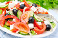 Greek Salad With Feta Cheese, Olives And Vegetables, Horizontal Stock Images - 33469934
